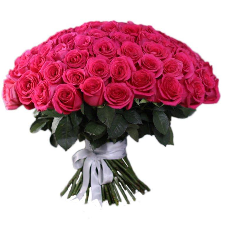 Букет из 101 розы (длина 50 см.)