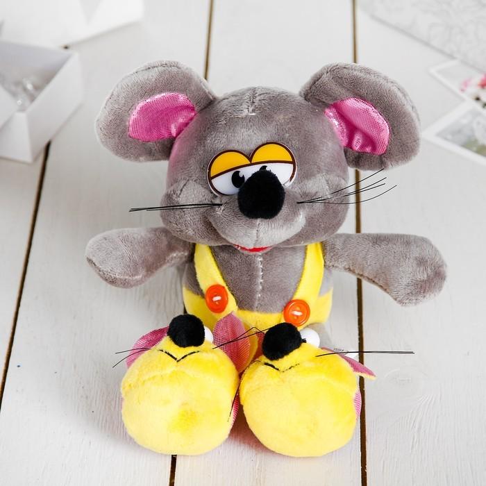 Мягкая игрушка «Мышонок в тапочках»