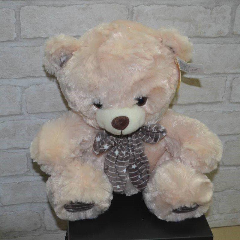 Медвежонок бежевый с бантиком (мягкая игрушка)