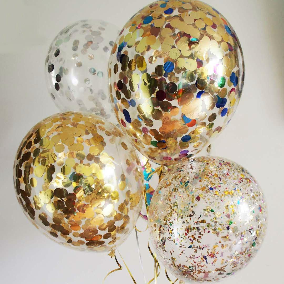Воздушные шарики с конфетти