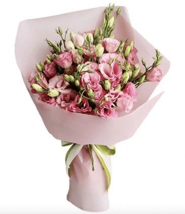 Букет из Эустомы (лизиантус) розовые — 11 шт.