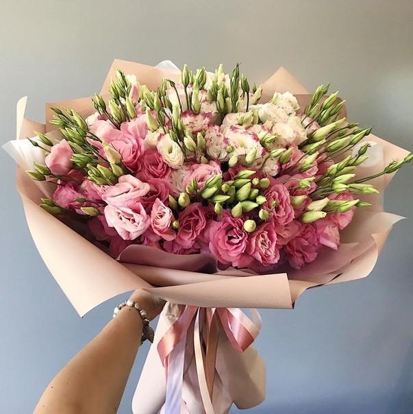 Букет из Эустомы (лизиантус) розовые — 13 шт.