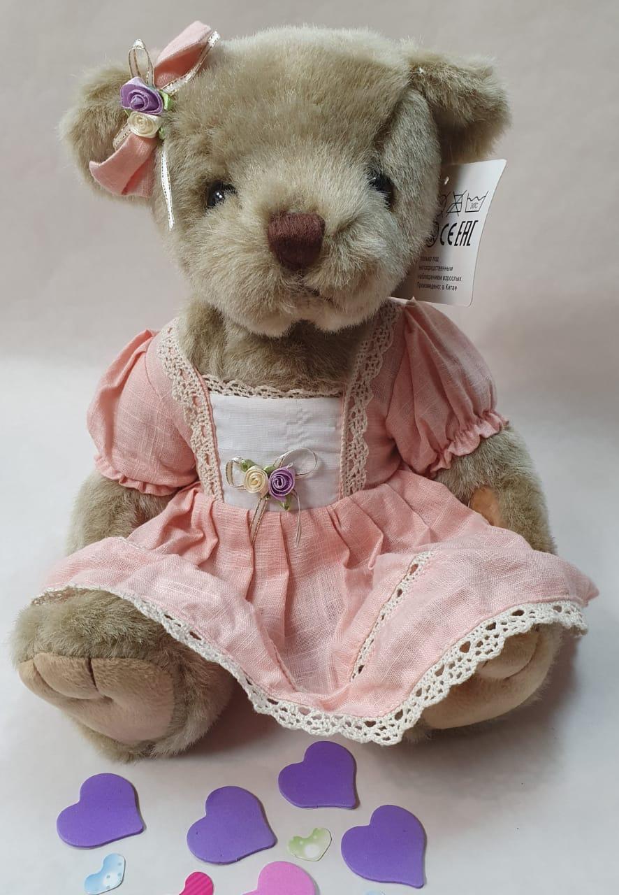 Мишка девочка в платье