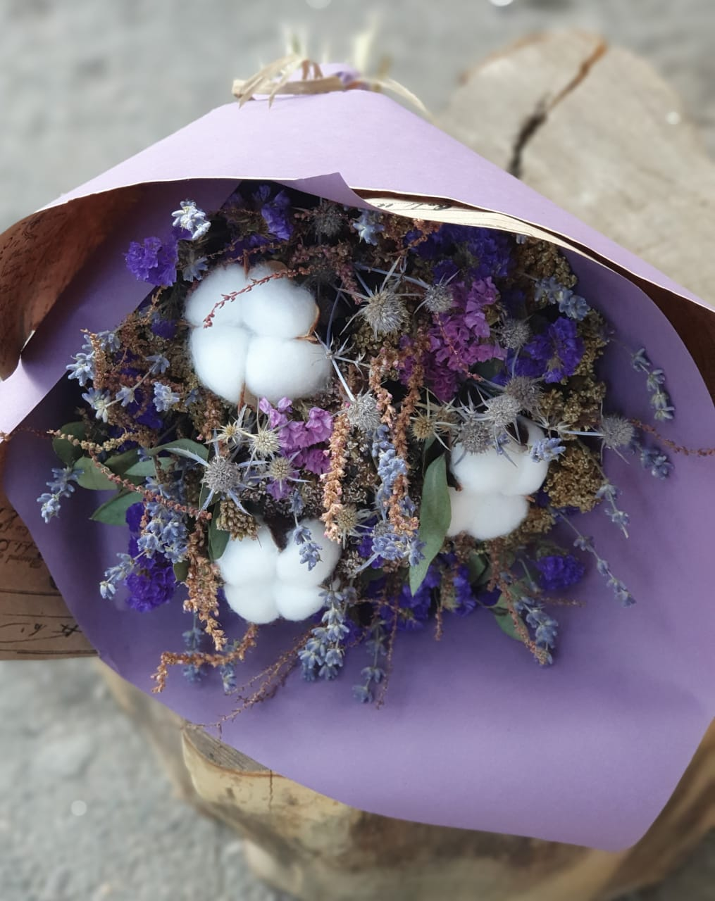 Букет из натуральных сухоцветов Фантазия